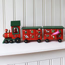 Personalised Wooden Advent Train With Draws