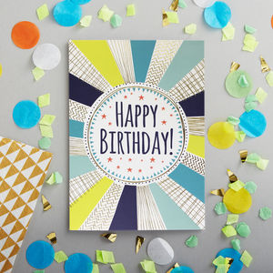 Happy Birthday Gold Foiled Card - birthday cards