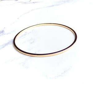 9ct Rose Gold Solid Bangle