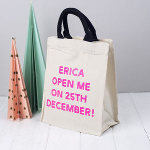 Personalised Christmas Gift Bag 25th December