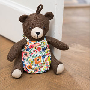 Bear Doorstop - living room