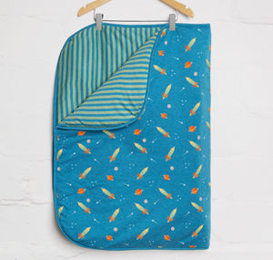 Space Rocket Blanket - baby & child sale