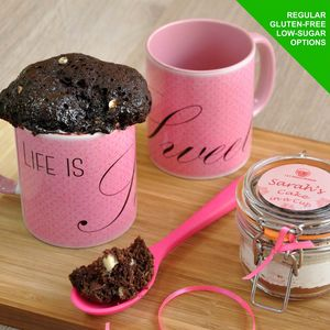 'Life Is Sweet' Personalised Chocolate Cake In A Cup