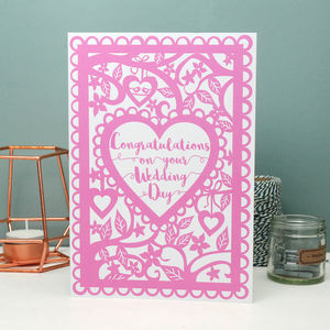 Congratulations On Your Wedding Day Printed Card