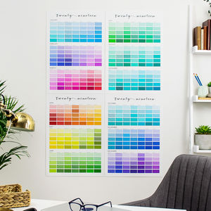 Paint Chip Colour Swatch Wall Planner 2019/2020