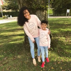 'My Love' Bff Twinning Sweatshirts And Rompers - new in fashion