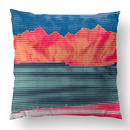 'Red Mountain Abstract Cushions