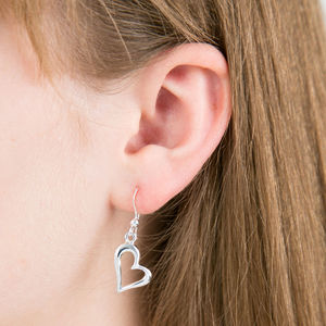 Heart Drop Earrings - earrings
