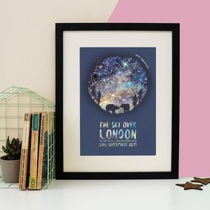 Personalised Bear Couple Star Chart Print