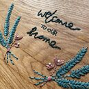 'Welcome To Our Home' Embroidered Decorative Platter