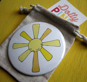 Sunshine Pocket Mirror 78mm 'Hello Sunshine' - compact mirrors