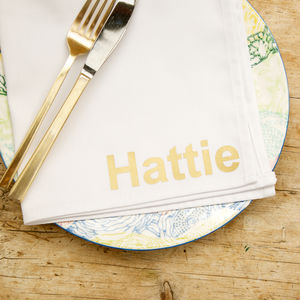Personalised Napkins - outdoor dining