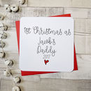 1st Christmas As A Daddy Personalised Script Card
