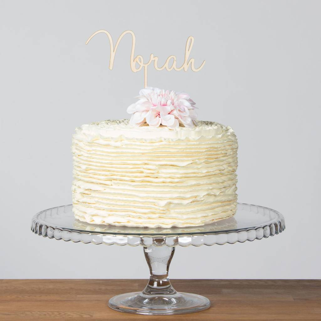 Personalised Name, Word Or Number Cake Topper