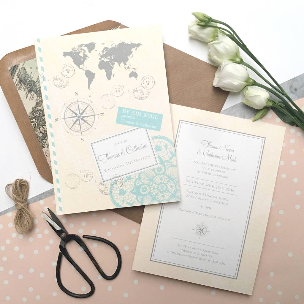 Love Travel Wedding Invitation By Ditsy Chic Notonthehighstreet Com