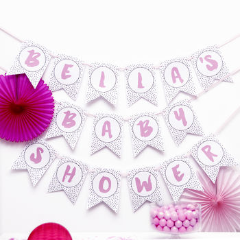 Personalised Polka Dot Bunting