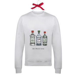 'We Three Gins' Christmas Jumper