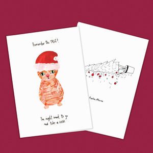 Funny Cat Christmas Card - cards