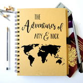 Personalised World Map Travel Journal - stationery