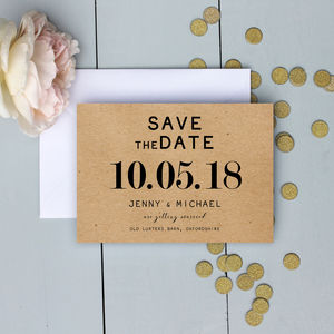 Modern Traditional Wedding Save The Date - new in wedding styling