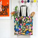 'Wildflower' Canvas Tote Shopper