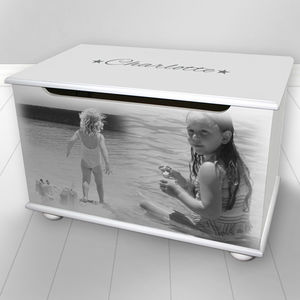 Toy Box With Personalised Photo Design - christening gifts