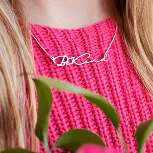 Signature Handwriting Necklace - gifts for her