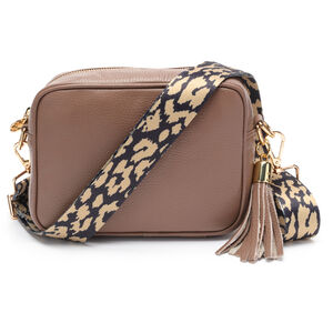 Crossbody Taupe Leopard Strap