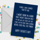 Dad Lessons Funny Father's Day Card A5