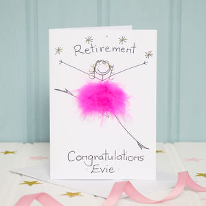 Handmade Personalised Retirement Card