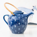 Handmade Porcelain Hearts Tea Pot