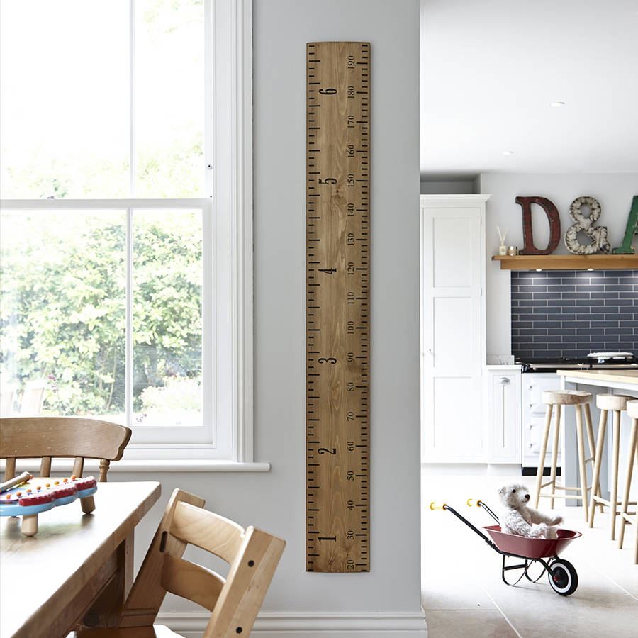 Wooden Growth Chart Ruler Dads Rule By Lovestruck Interiors
