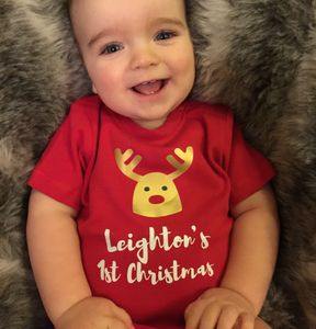 Personalised First Christmas T Shirt Or Babygrow - baby's first christmas