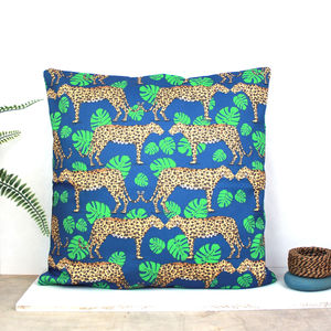 Leopard Jungle Cushion - new in baby & child