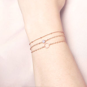 Rose Gold Stacking Bracelets - rose gold jewellery