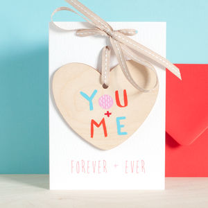 You And Me Keepsake Heart On A Personalised Card - shop by category