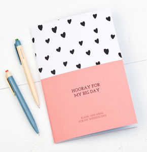 Hooray For My Big Day Wedding Planner Notebook - engagement gifts