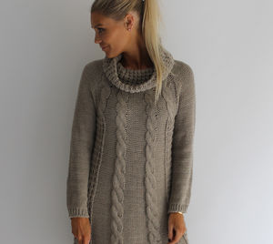 Cable Knit Maxi Jumper - jumpers