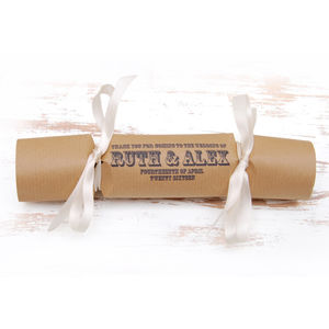Wedding Favour Crackers Box Of Six Vintage Type
