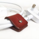 Personalised Leather Cable And Headphone Organisers