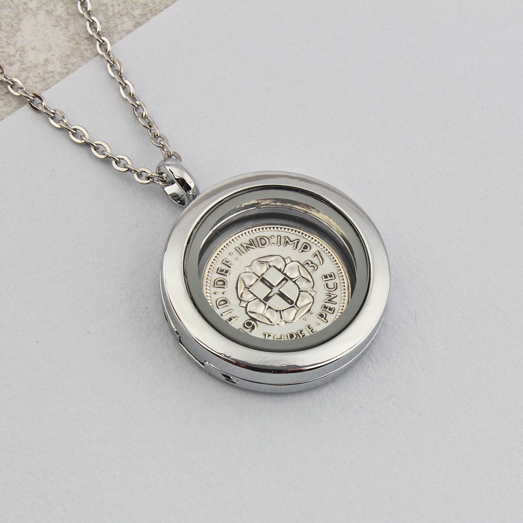 Threepence Coin Neckace 1938 80th Birthday