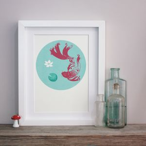 Koi Fishpond Original Screenprint