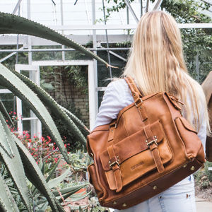 Leather Weekender Bag - holdalls & weekend bags