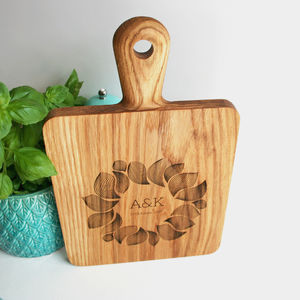 Gift For Couples Oak Chopping Board And Serving Platter - dining room