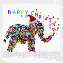 Elephant Christmas Card Pack, Five Butterfly Xmas Cards