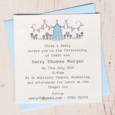 Personalised Pack Of Christening Invitations - christening