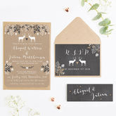 Chalkboard And Kraft Winter Stag Wedding Invitation - styling your day