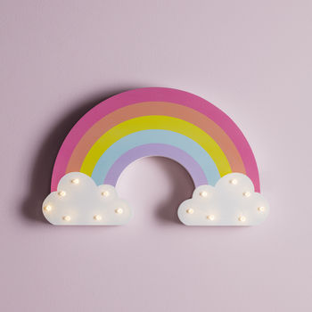 Wooden Rainbow Wall Light