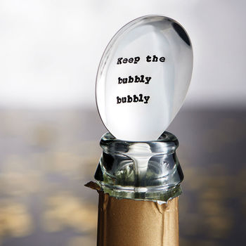 Personalised 'Bubbly Bubbly' Vintage Champagne Spoon