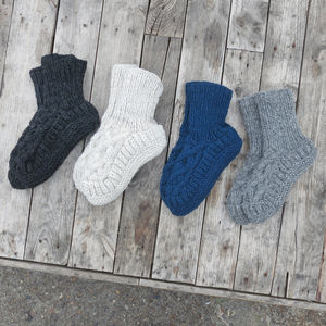 Wool Handknit Slipper House Socks